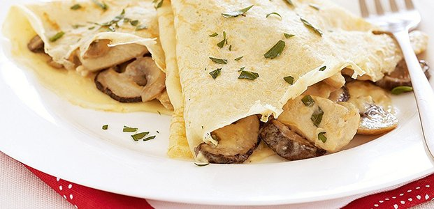 Блины с грибами — очень вкусные рецепты блинчиков
