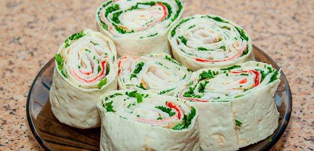 Начинки для лаваша – 21 вкусный рецепт