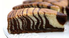 Пирог «Зебра» – пошаговые рецепты приготовления