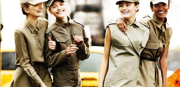 Стиль милитари: женственные образы