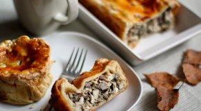Пирог с грибами — рецепты сочных грибных пирогов
