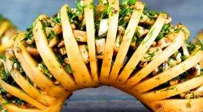 Картошка-гармошка – 7 очень простых рецептов