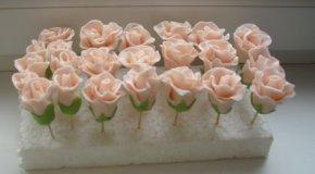 Как сделать из крема розы для торта