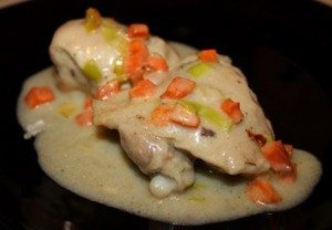 Рецепт приготовления куриного фрикасе