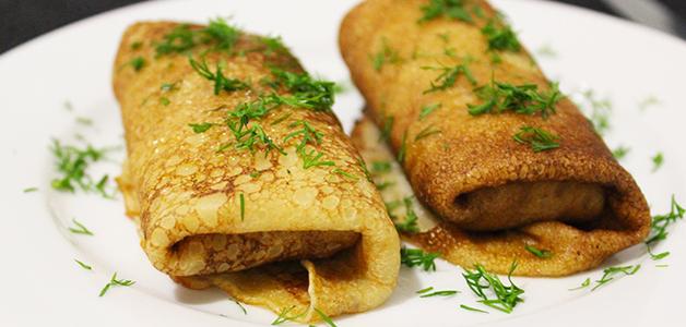 блины с рисом и грибами рецепт с фото