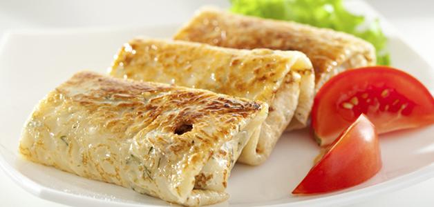 Блины со сливочным сыром