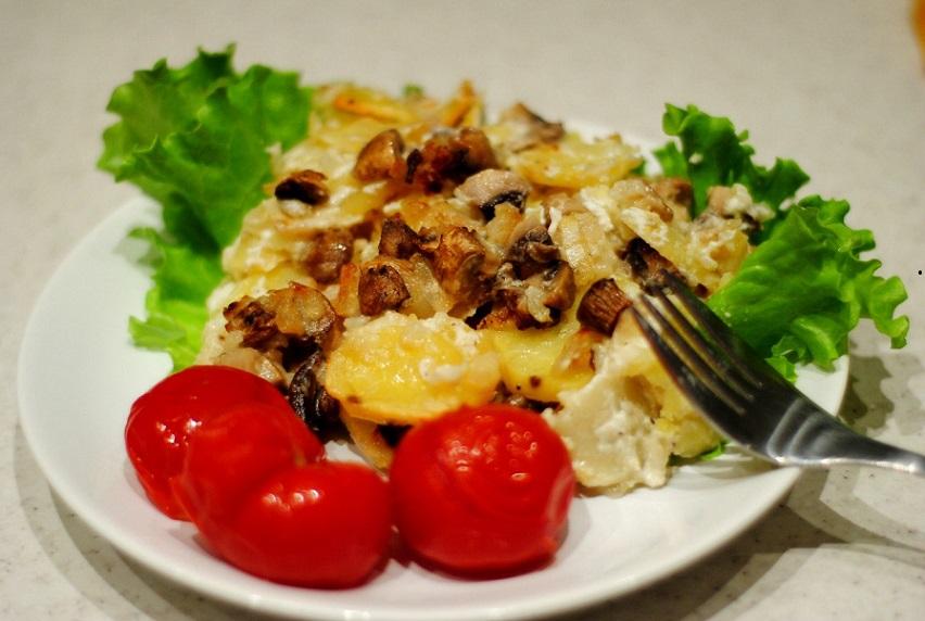 Рецепт грибов в духовке