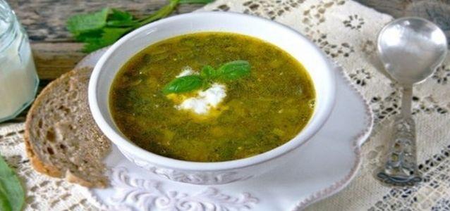 зеленый борщ с крапивой рецепт