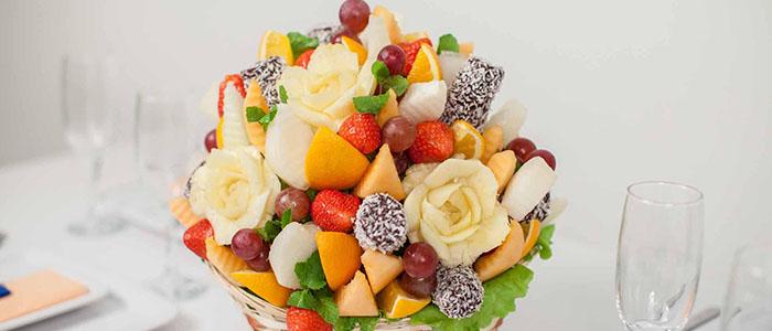 Букеты из фруктов и зефира своими руками