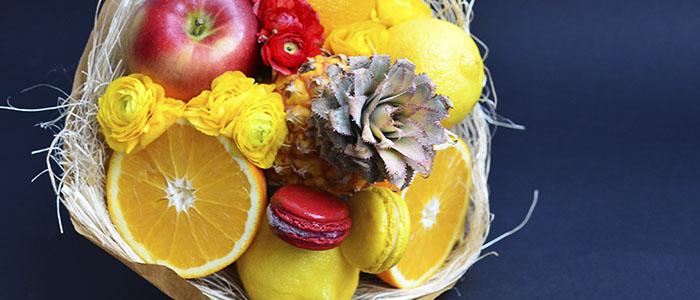 Детские букеты из фруктов своими руками