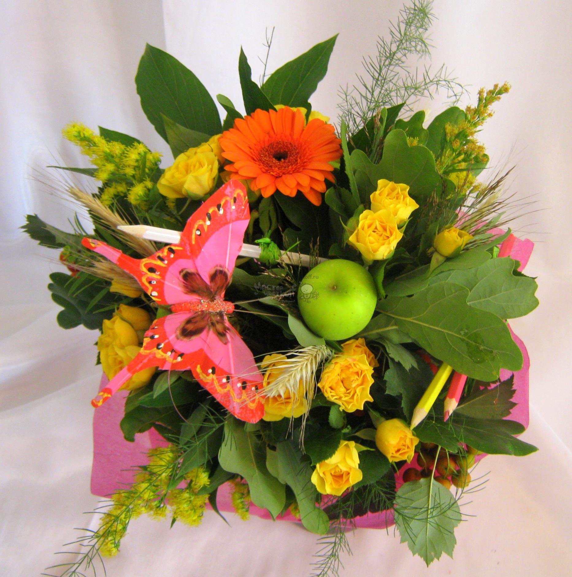 Маленькие букетики цветов своими руками