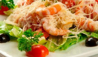Цезарь с креветками – рецепты вкусного салата