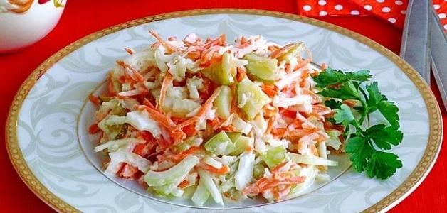 Салат из топинамбура с яблоком
