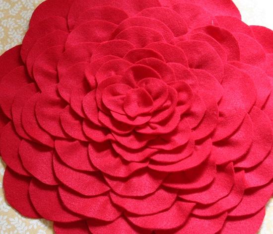 Как сделать Подушка с розой своими руками