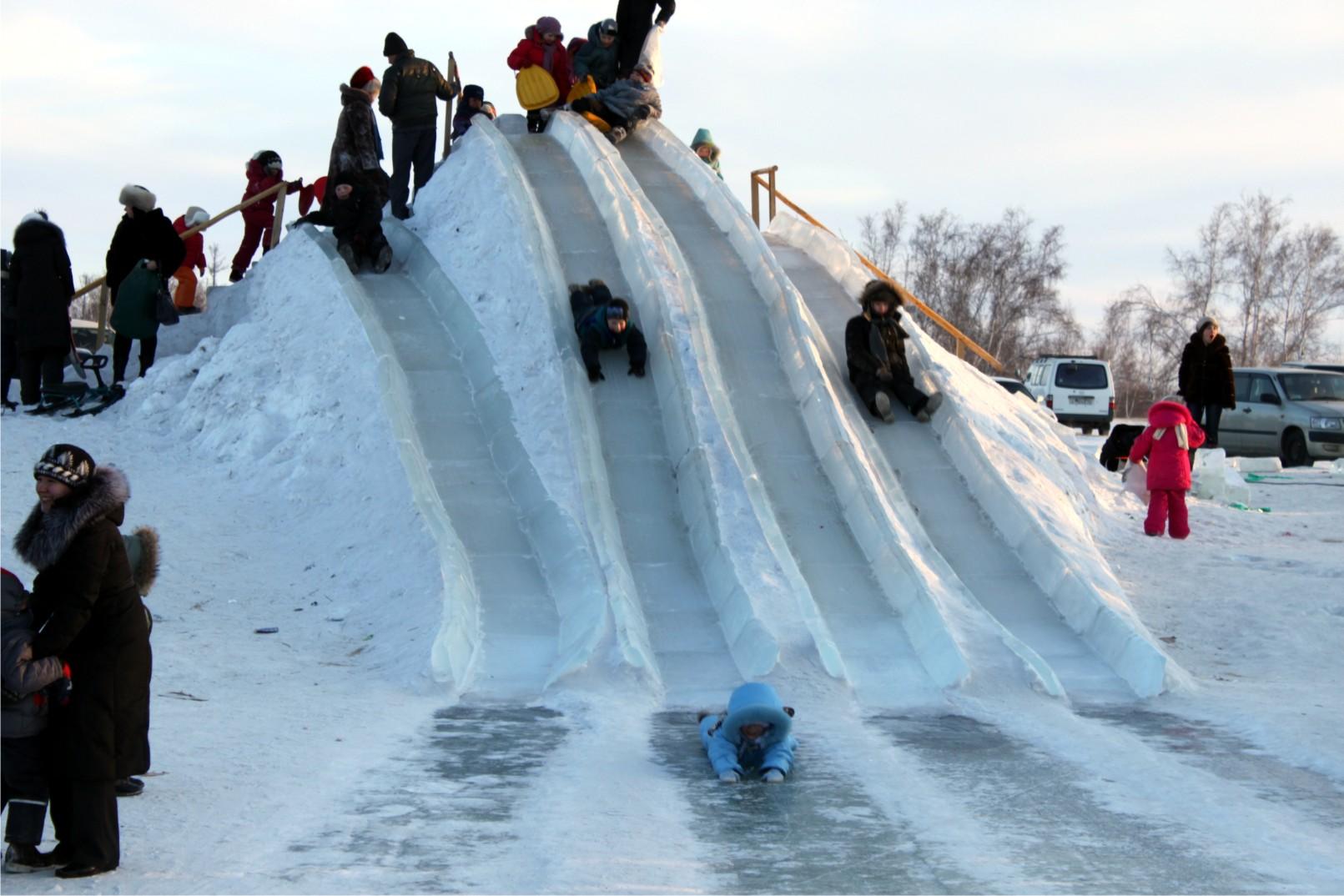 Ледяные горки своими руками 864