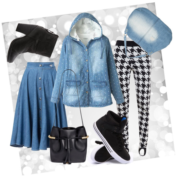 Джинсовая юбка и куртка