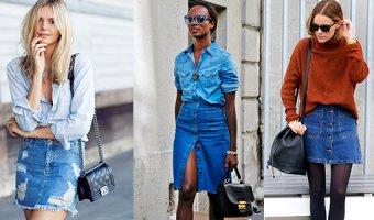 Джинсовая юбка – с чем носить юбку из денима