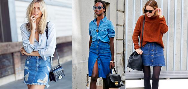 Джинсовая юбка - с чем носить юбку из денима