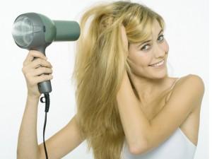 Применение фена для волос