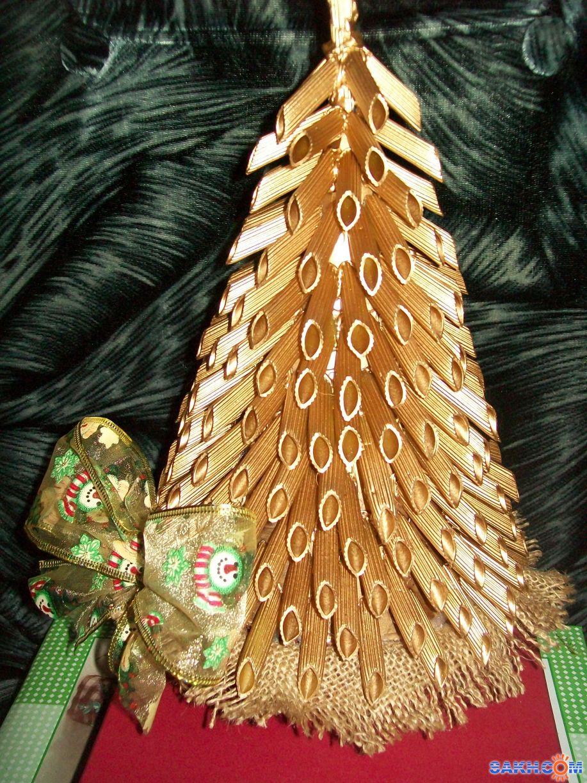 Пошаговая елочка из макарон своими руками