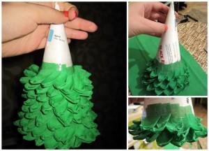 бумажная елка 2