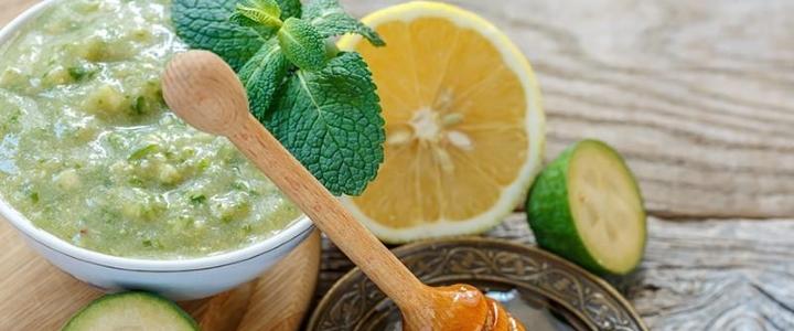 фейхоа с сахаром и лимоном