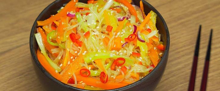 Фунчоза с овощами по-корейски