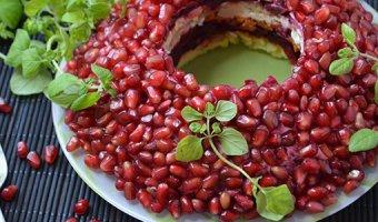 Гранатовый браслет – 4 вкусных рецепта салата