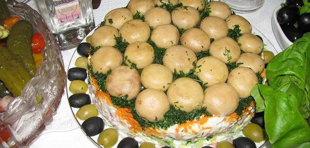 Простой рецепт грибной поляны