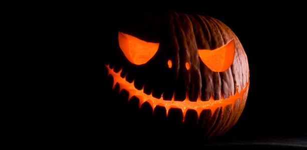 Голова тыквы на хэллоуин