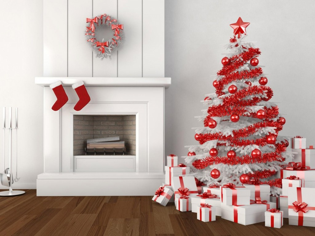 Как украсить белую елку