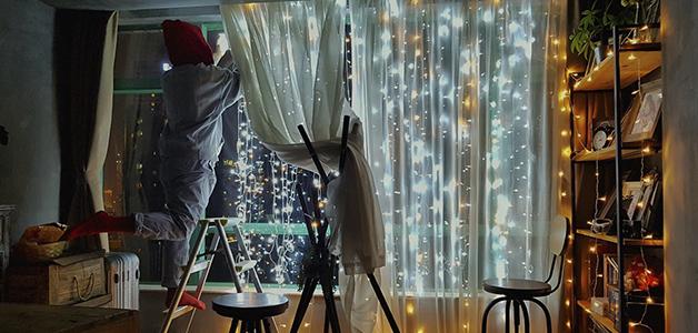 Украшаем комнату на Новый год