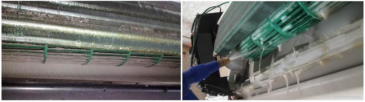 Как почистить кондиционер мицубиси в домашних условиях видео