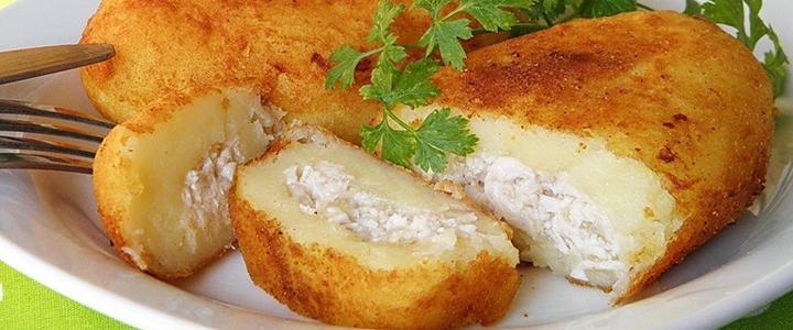 Картофельные зразы с горбушей