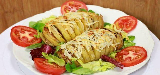 Картошка с салом в фольге
