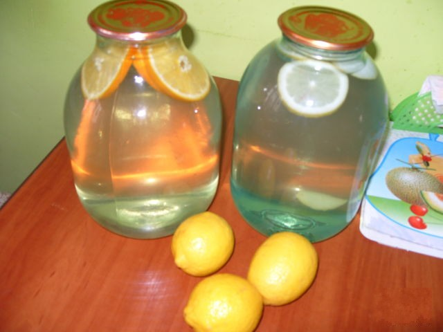 Березовый сок консервация с лимоном