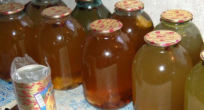 Березовый сок с шиповником консервация