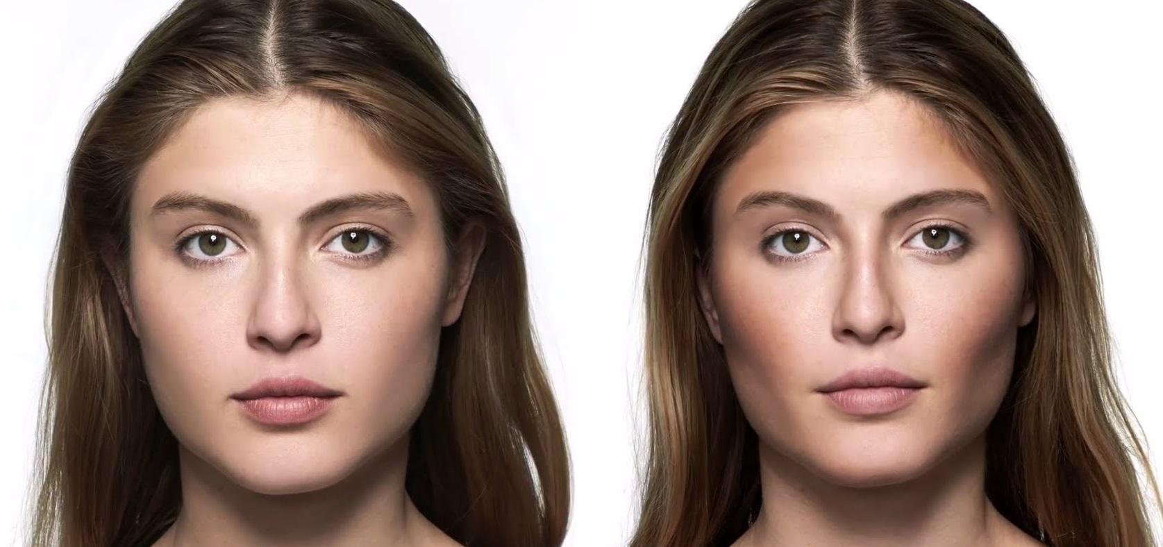 Как округлить лицо с помощью макияжа фото