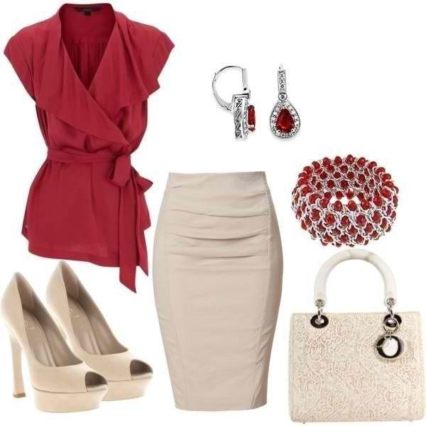 Блузка с юбкой на праздник