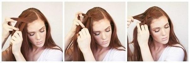 Плетение косы на бок