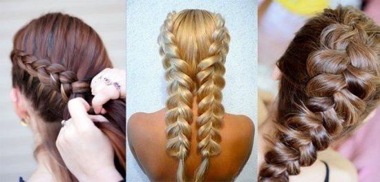 Простые причёски с косами на длинные волосы