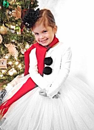 Снеговик костюм для девочки 191