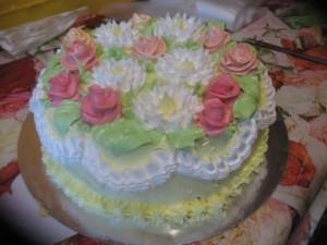 Как сделать розы для торта