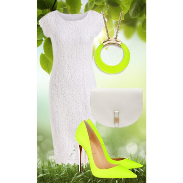 Белое кружевное платье-тренд лета