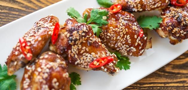 крылышки в медово-соевом соусе на сковороде