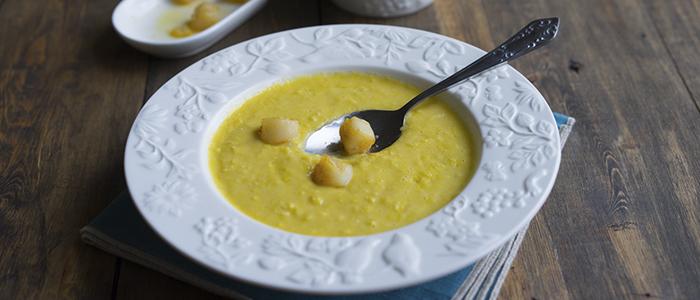 Суп-пюре с кукурузой