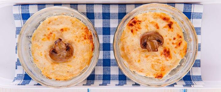 Куриное суфле с грибами