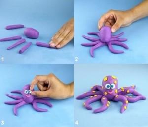 осьминог из теста