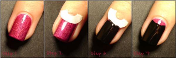 Лунный маникюр на коротких ногтях как сделать