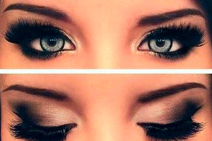 Макияж для разного цвета глаз